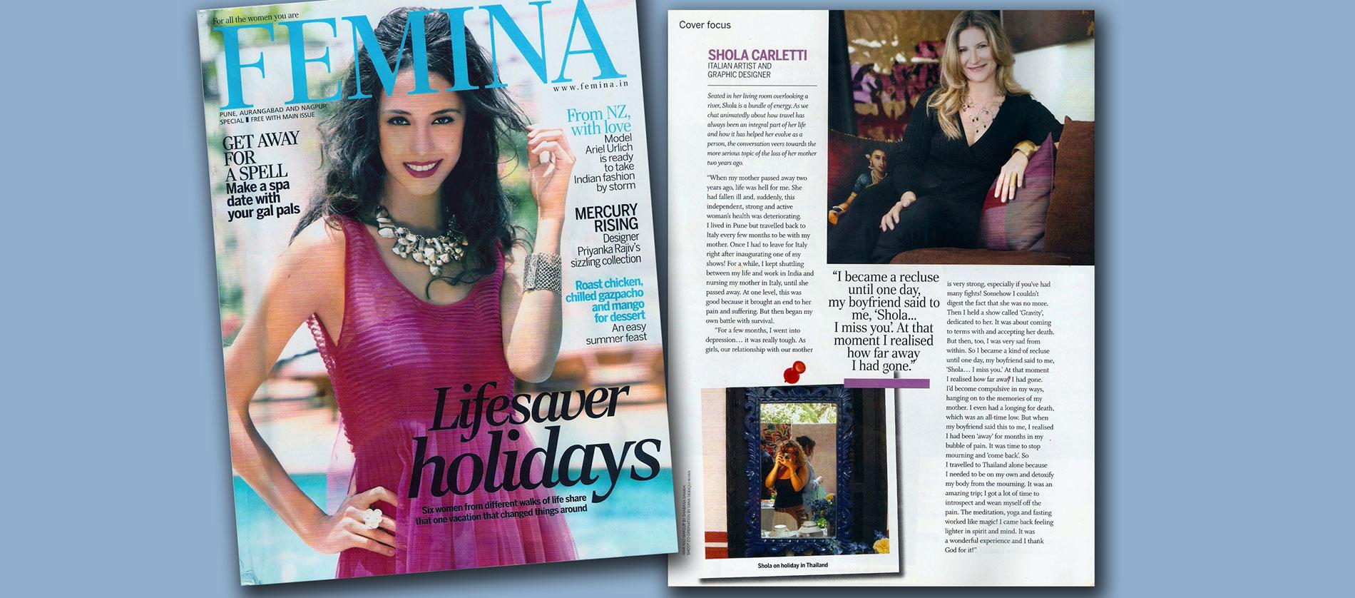 In Magazine, Femina, 2012
